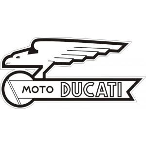 2x pegatinas Ducati moto