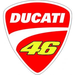 2x Logo Escudo Ducati 46