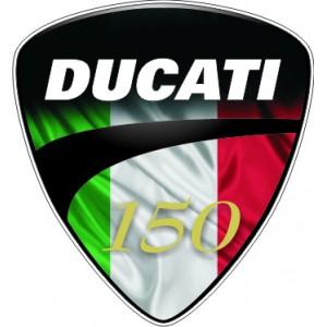 2x Logo Escudo Ducati 150
