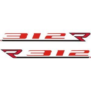 2x Pegatinas MV Agusta R 312