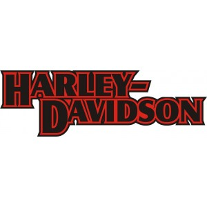 2x Pegatinas logo Harley antiguo
