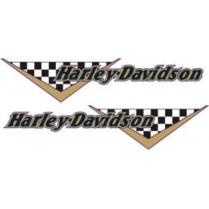 2x Pegatina logo Harley bandera