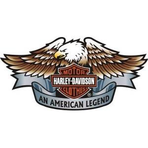 2x Pegatinas logo Harley Aguila