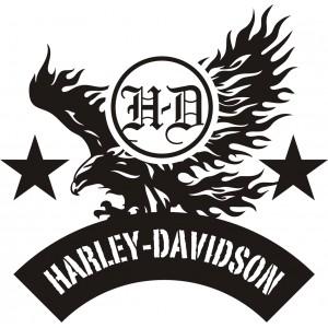 2x Pegatinas logo Harley Aguila 2