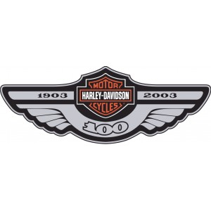 2x Pegatinas Harley 100 Aniversario