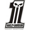 Pegatina Harley Dark Custom