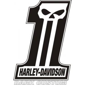 2x Pegatinas Harley Dark Custom