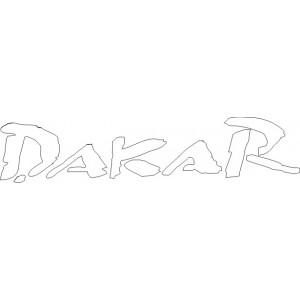 2x Pegatina logo Dakar
