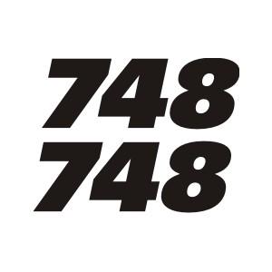 2X Pegatinas Logo Ducati 748
