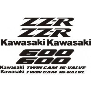KIT Pegatinas Kawasaki ZZR600