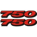 2x Pegatinas logo 750