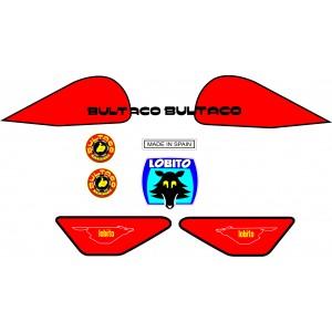Kit Pegatinas Bultaco Lobito