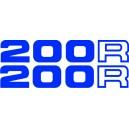 2x Pegatinas Honda 200R
