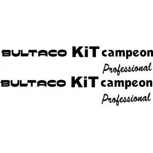Pegatinas Bultaco KIT campeon
