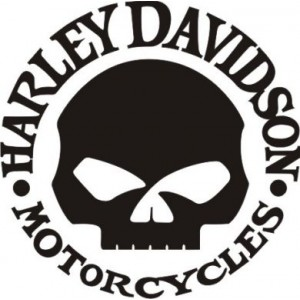 2x Pegatinas Harley Davidson calavera