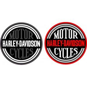 2x Pegatinas Harley Davidson redonda