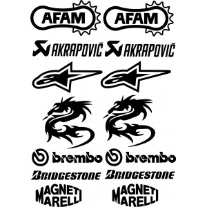 Kit patrocinadores moto