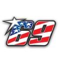 Pegatina 69 Nicky Hayden
