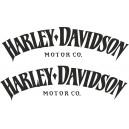 2x Pegatinas Harley Davidson Motor Co