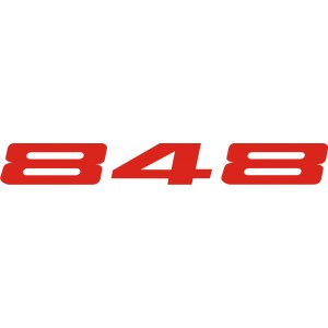 2x Pegatinas Ducati 848